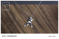TANGRAM jewelry Runner pendant Wooden Jewelry, Pendant, Silver, Money, Trailers, Pendants