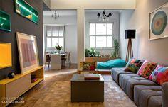 As múltiplas possibilidades do sofá grafite Pesquisa de Mercado Arquitrecos