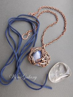 Sodalite pendant by WireGalaxy on Etsy