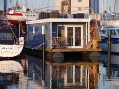 Urlaub mit Hund im Hausboot Lasse in der  Marina Heiligenhafen.