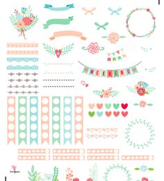 OMG! How beautiful are these pretty little printable planner stickers? Erin Condren Style Free Stickers for a Happy Planner! Via @tweehaus