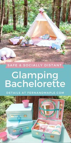 Set up a safe and socially distant Glamping bachelorette party with these tips and instructions for DIY individual picnic baskets, safety station and more! Get all of the details now at fernandmaple.com!
