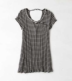 AEO Striped T-Shirt Dress. Cute and casual in one perfect piece. #AEOSTYLE