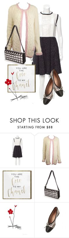 """""""dress"""" by masayuki4499 ❤ liked on Polyvore featuring Chanel and Oliver Gal Artist Co."""
