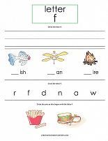 free worksheets for each letter of the alphabet!