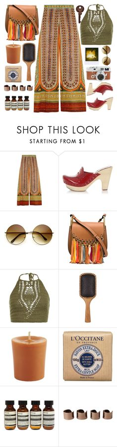 """""""Valentino wide leg trousers"""" by karineminzonwilson ❤ liked on Polyvore featuring Valentino, Miu Miu, Chloé, New Look, Aveda, Pier 1 Imports, L'Occitane, Aesop, Maison Margiela and Leica"""
