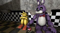 (SFM)Bonnie and Toy Chica. by ShadowPikachuu