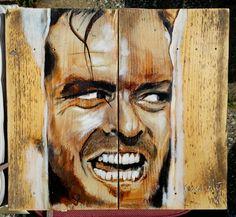 Jack Nicholson, Here's Johnny on wood