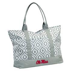 NCAA Tote Bags Lt Grey Ikat Design, Oklahoma State Cowboys
