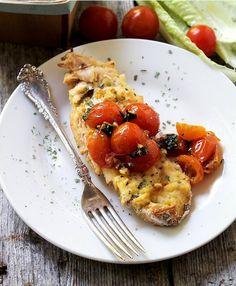 Tomato Basil Baked Crispy Chicken