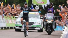 A victorious Ian Stannard on stage 3 of the Tour of Britain