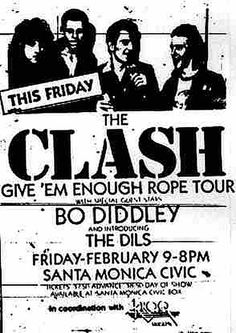 The Clash & The Dils @ Santa Monica Civic. 1979