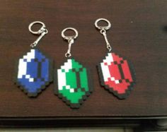 Fallout Vault Boy Perler Bead Keychain by TheSnazzyBoxerz on Etsy
