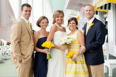 Adorable Preppy Yellow #Wedding at Benhase Hall