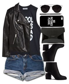 """""""WZZZ"""" by krizan ❤ liked on Polyvore featuring Alexander Wang, H&M, Givenchy, Casetify and Lancôme"""
