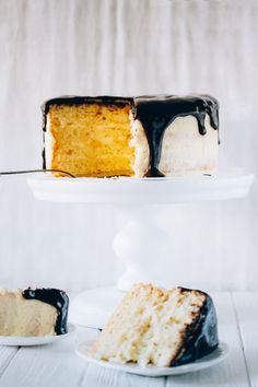 Cradamom Sponge cake with Mascarpone frosting and thick chocolate ganache Check it now or save for later