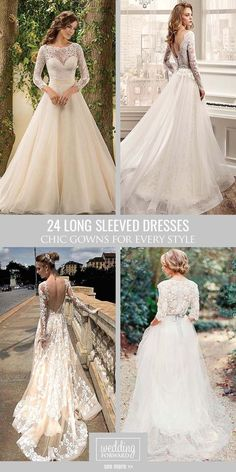 24 Chic Long Sleeved Wedding Dresses ❤ Long sleeve wedding dresses are…