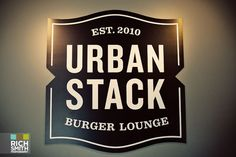 Urban Stack – Chattanooga's Newest Coolest Restaurant Restaurant Logo Design, Restaurant Names, Cool Restaurant, Brand Identity Design, Branding Design, Black And White Logos, Bar Logo, Beer Packaging, Cool Bars