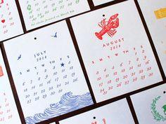Sesame Letterpress Letterpress Calendar | 2014 Calendars | Everywhere