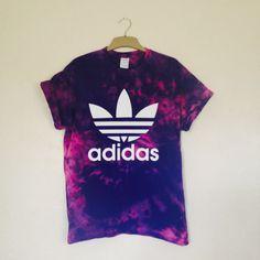 Unisex Hand Printed   Customized Adidas Trefoil by PEACEBABY88 Addidas  Shirts 9424f03dd