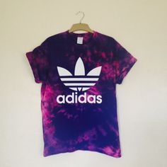 Unisex Hand Printed & Customized Adidas Trefoil by PEACEBABY88