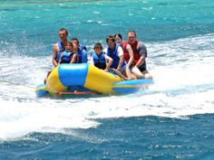 Banana boating at De Palm Island #onehappyisland #aruba