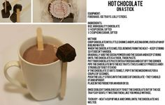 hot chocolate on a stick by oh_gosh, via Flickr