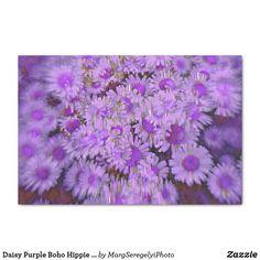 Daisy Purple Boho Hippie Vintage Retro Floral Art Tissue Paper Decoupage Tissue Paper, Custom Tissue Paper, Paper Daisy, Hippie Lifestyle, Retro Floral, Boho Hippie, Artwork Design, Small Gifts, Retro Vintage