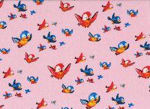 stof-bird-pink Mies&Moos from designer Monique de Bruijn www.missmoos.nl
