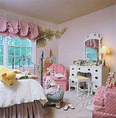 ballon valences little girls | CHILDREN'S BEDROOM: Little girl's room, shades of pink used throughout ...