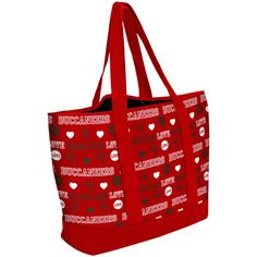Women's Tampa Bay Buccaneers Love Print Tote Bag