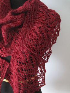 Knitting Like Crazy: Sock-Yarn Shawls II: Juniper