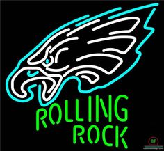 Rolling Rock Philadelphia Eagles Neon Sign NFL Teams Neon Light