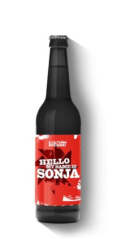 Hello My name is Sonja - Evil Twin Brewing