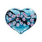 Cherry Blossom Heart Paperweight