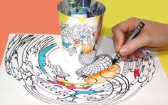 Anamorphic art toy by OOZ & OZ.jpg Could building reflect street chalk art? Drawing Lessons, Art Lessons, Math Art, Science Art, Middle School Art, Art School, Arte Elemental, Classe D'art, High School Art Projects