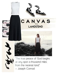 """""""Flow."""" by francesca-belotti ❤ liked on Polyvore featuring Graham & Brown, Lands' End, Canvas by Lands' End, paintyourlook, canvasbylandsend and youaretheartist"""