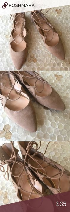NWOB Jessica Simpson Beige Suede Sandals size 8.5 New without box! Jessica Simpson beige Suede Sandals in a size 8.5. Lace up straps. Jessica Simpson Shoes Sandals