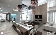 akwarium w przestrzeni domu - projekty - zdjęcie od ARTDESIGN architektura wnętrz - Salon - Styl Nowoczesny - ARTDESIGN architektura wnętrz