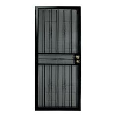 Home Depot First Alert Venetian Black Steel Security Screen Door 1 Inch Thickness