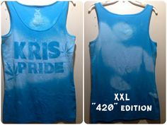 XXL 420 Edition blue Kris Pride tank by PRIDERAGS on Etsy