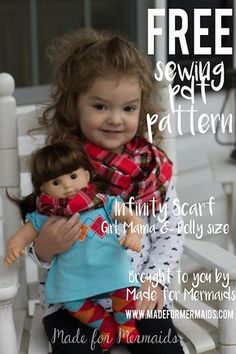 Infinity Scarf For Children, Mama, & Doll Tutorial (with template)