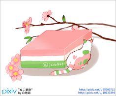 赤白緑の可愛いお餅。雛あられも食べたい。