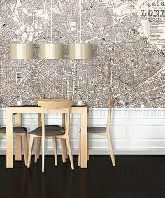 Take a look at this Sepia 1890 Victorian London Map Adhesive Print by Swag Paper on #zulily today!