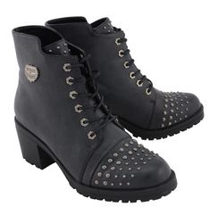 b91ffb6af53 Milwaukee Performance-MBL9426-Ladies Distress Black Rocker Boot with Studded  Instep free shipping 3