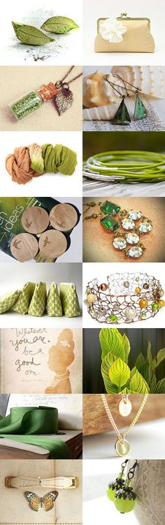 Chartreuse & Champagne Treasury by Lovely Clusters