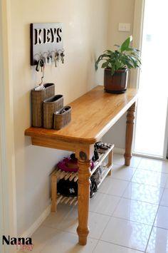 DIY Foyer Table - Nana Tipsy's Afghan & Cup of Tea