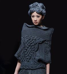 exercicedestyle: China Fashion Week Pinned by www.LKnits.com