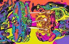 Cap'n's Comics Comic Book Artists, Comic Books Art, Comic Art, Tumblr, Jack Kirby Art, 70s Sci Fi Art, Black Light Posters, Metal Magazine, Psychedelic Art