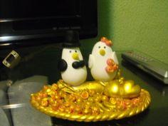 Lembrança de casamento em biscuit!!!